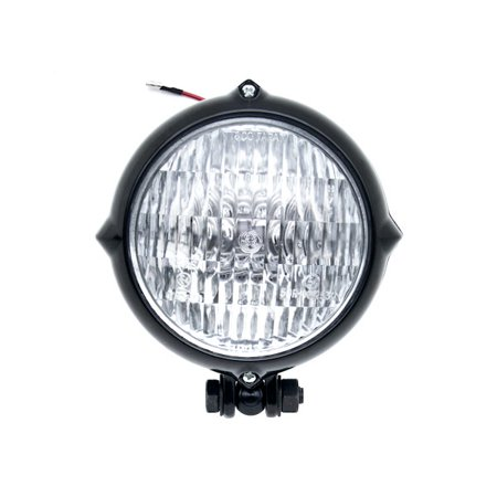 Vintage Style Black Motorcycle Headlight Retro For Kawasaki KZ 400 650 750 1000 1100 1300 - image 3 de 6