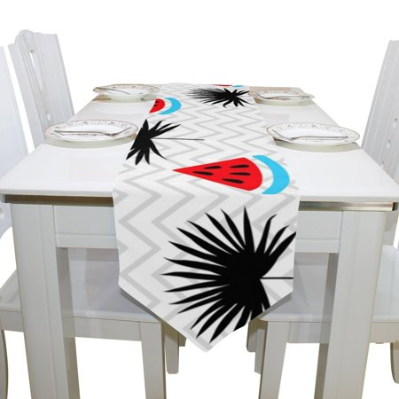 POPCreation Tropical Fruit Watermelon Table Runner Placemat X - Office desk table cloth