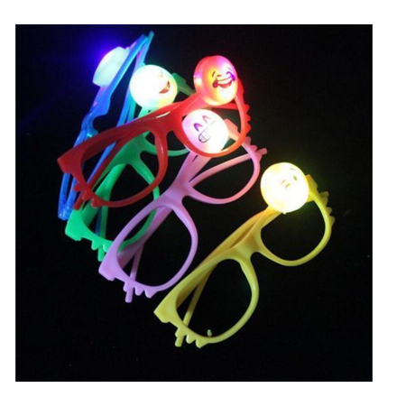 LWS LA Wholesale Store  15 PCS LED Emoji Glasses Light Up Shades Flashing Rave Wear Party Favors Bags &  ** 1 Free miniature figures](Nearby Party Stores)