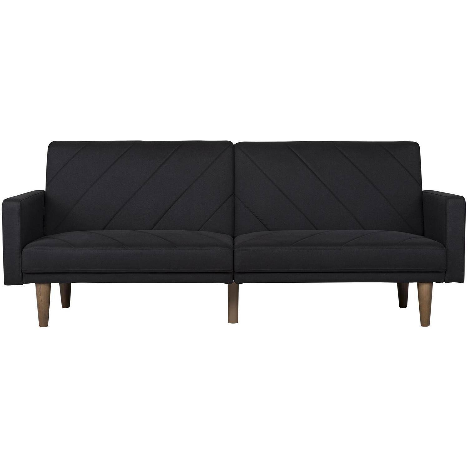 DHP Paxson Linen Futon with Mid-Century Style, Multiple Colors by Dorel Home Products
