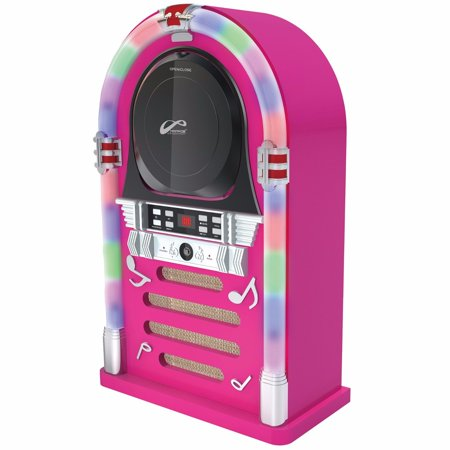 Ppg Cd Jukebox Speaker System With Color Changing Lights And Bluetooth Wireless Technology   Pink