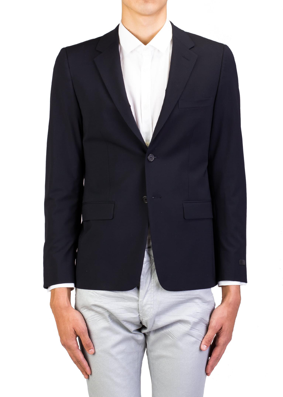 Prada Men's Virgin Wool Two-Button Sport Coat Jacket Navy by Prada