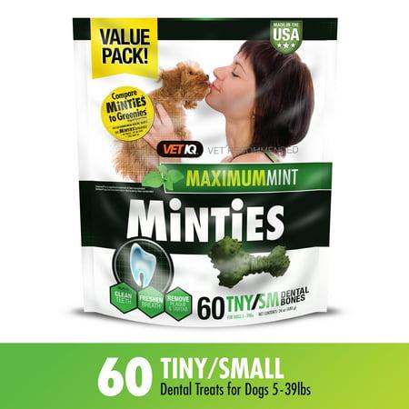 Minties Teeth Cleaner Dental Dog Treats Tiny/Small, 60