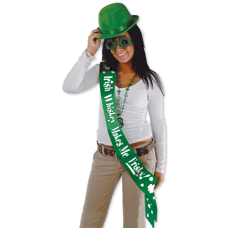 Irish Whiskey Makes Me Frisky! Satn Sash (Pack of 6) - image 1 de 1