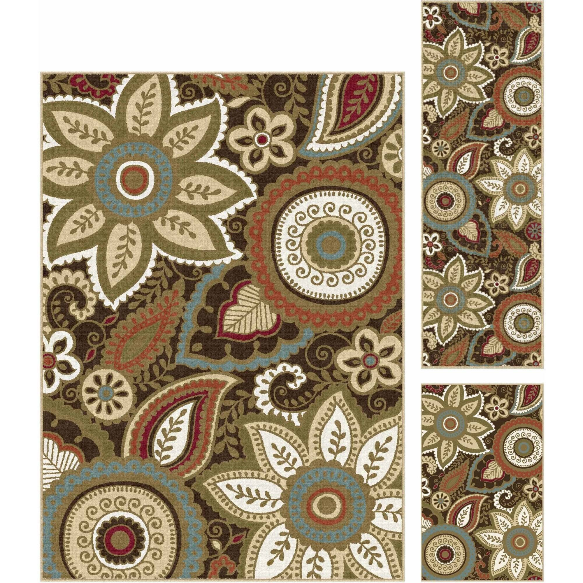 Bliss Rugs Azalea Transitional Area Rug Set, 3-Piece