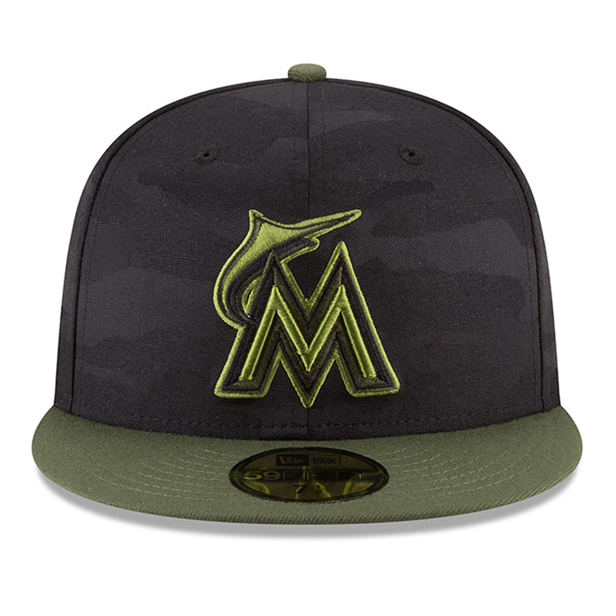 new concept 027f1 dfbff ... switzerland miami marlins new era 2018 memorial day on field 59fifty  fitted hat black walmart 0844c