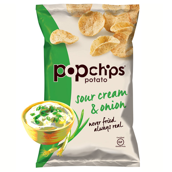 Popchips Sour Cream ; Onion Potato Chips 3.5 oz Bags - Pa...