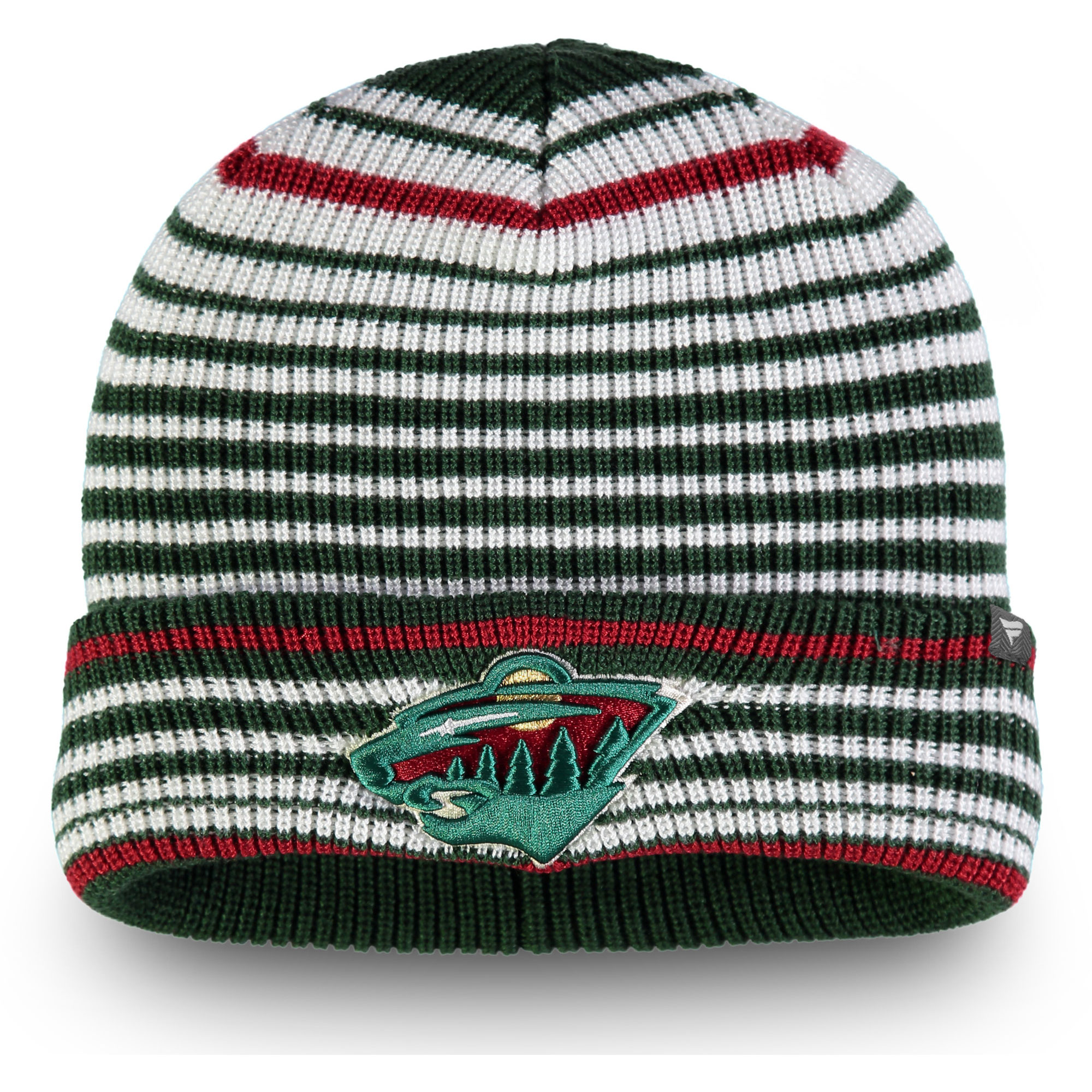 Minnesota Wild Fanatics Branded Iconic Layer Core Cuffed Knit Hat - Green - OSFA