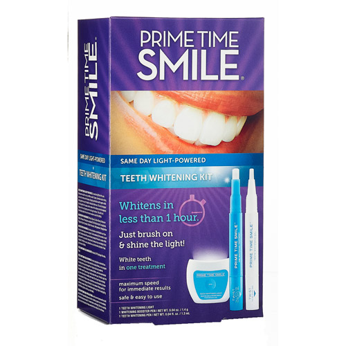 Prime Time Smile Same Day Light-Powered Teeth Whitening Kit, 3 pc