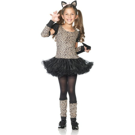 Leg Avenue 5PC. Little petticoat dress arm warmers leg warmers tail ears - Leopard Ears And Tail