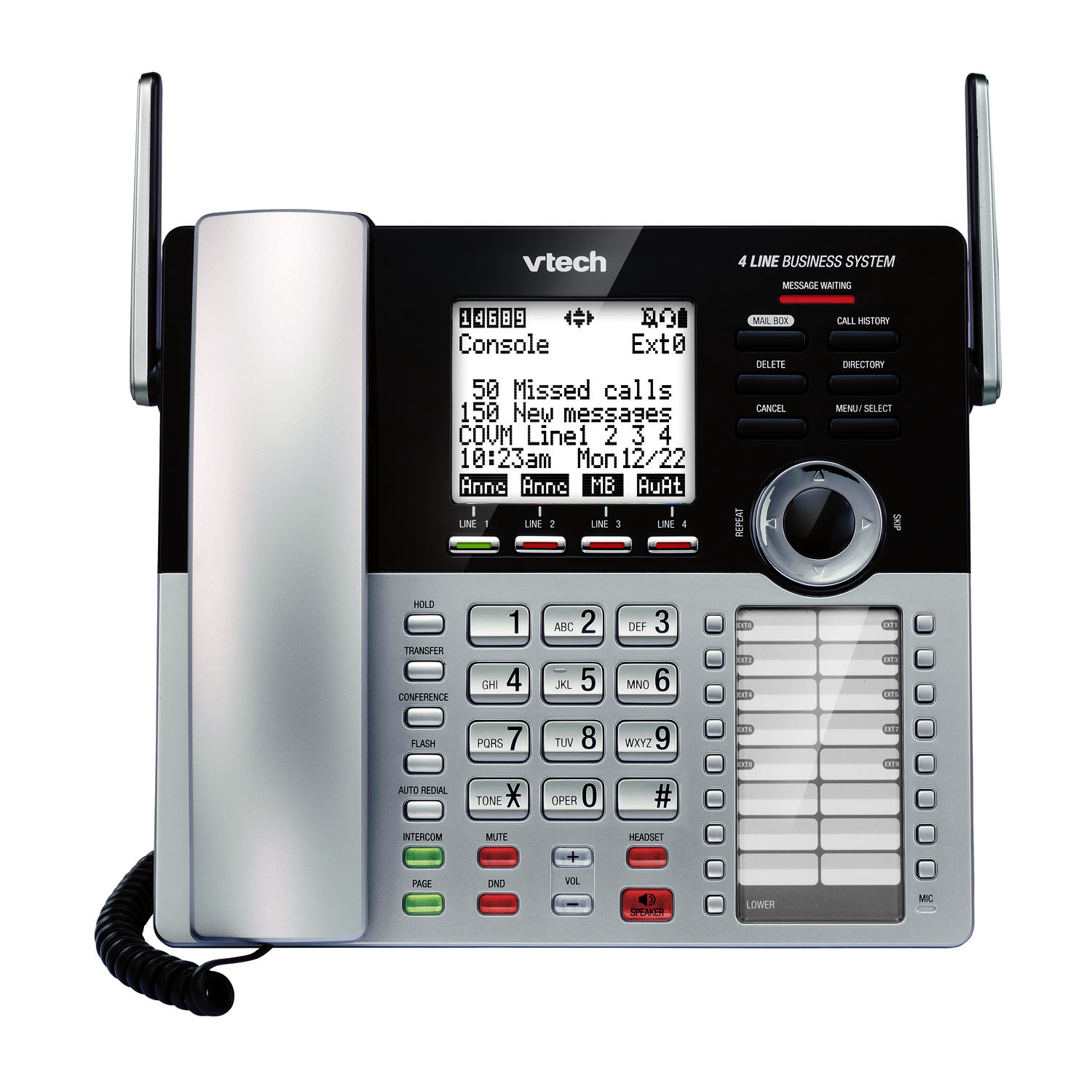 VTech 4 Line Small Business System Main Console