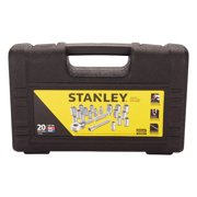 "Stanley Assorted"" x 1/4"" drive SAE 6 Point Socket Set 20 pc."