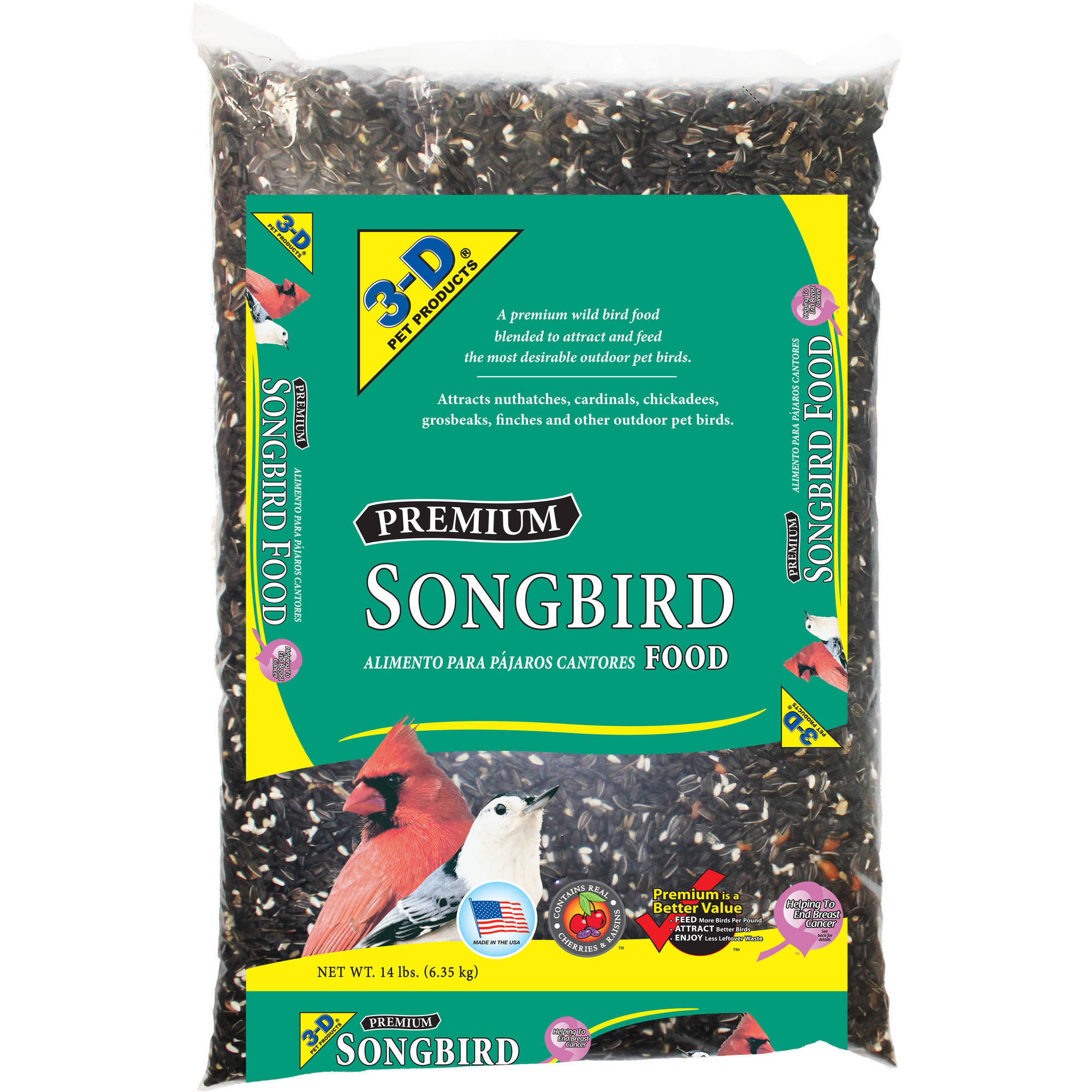 Image of 3-D Songbird Food, 14 lbs