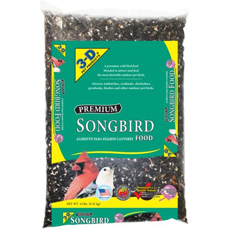 3-D Pet Products Premium Songbird Food, 14 lbs