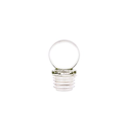 Glass Stopper with an Air/Liquid Tight 18mm Closure and a 30mm Lead Free Glass Globe. Ideal Stopper for Wine Bottles, Apothecary Containers, Perfume Oil Bottles, Essential Oil Containers (6 Pieces)