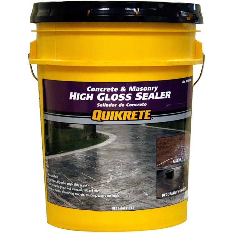 Quikrete High Gloss Sealer wet look 5gal