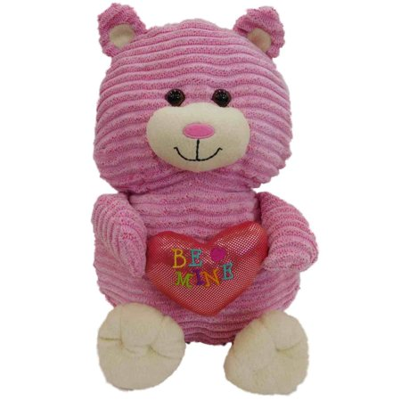 Sweet Sprouts Ribbed Cord Knit Pink Kitty Cat 12 Stuffed Animal Pal