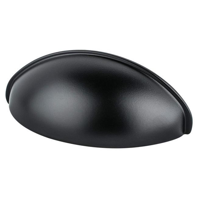 Cabinet Hardware Drawer Cup Pulls 0967 Matte Black  64 MM CC