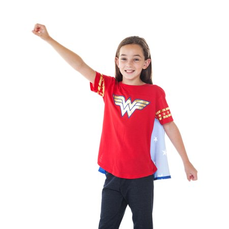 DC Superhero Girls Wonder Woman Dress Up Costume T-Shirt w/ Cape for $<!---->