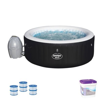 Bestway SaluSpa Inflatable Hot Tub Spa w/ Spa Support Kit and Filter