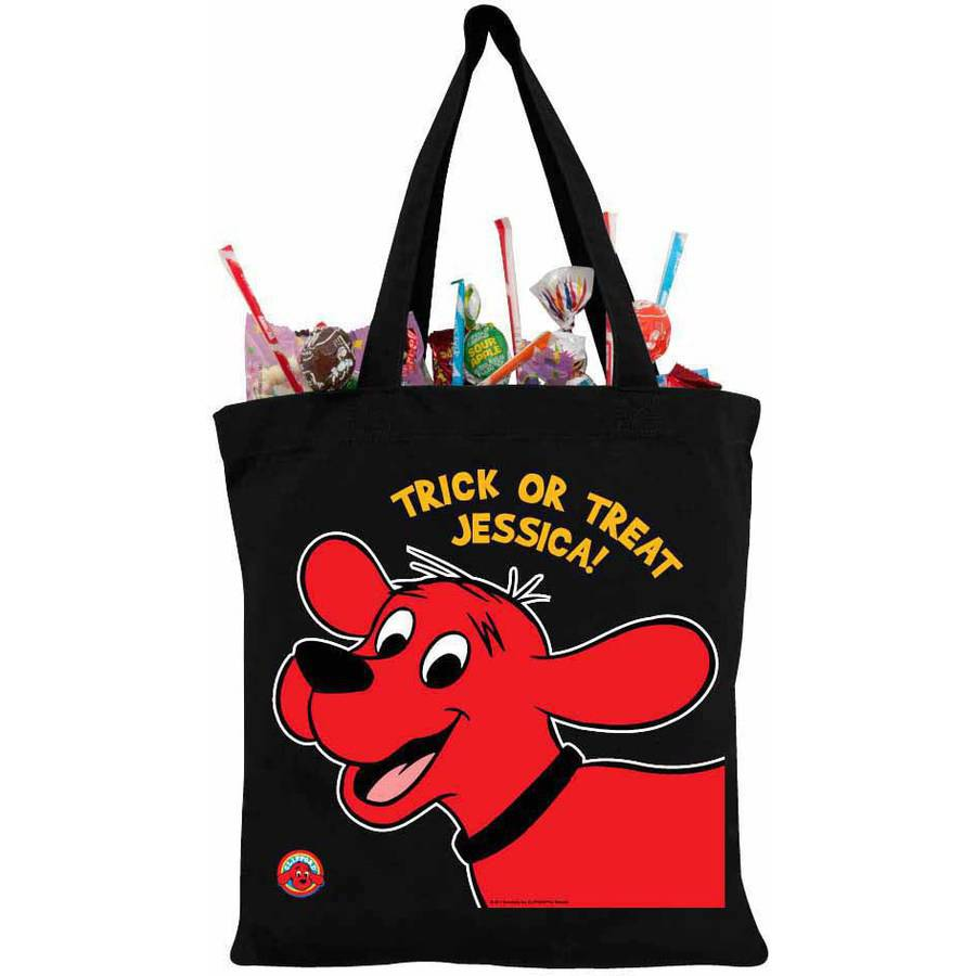 Clifford The Big Red Dog Black Personalized Trick-Or-Treat Bag