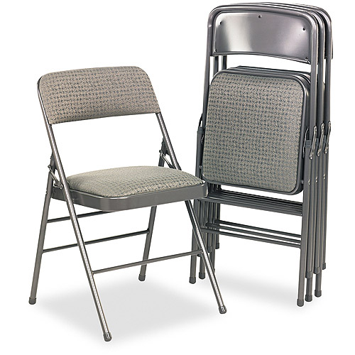 Bridgeport Fabric Padded Seat/Back Folding Chair