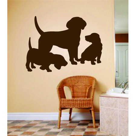 New Wall Ideas Mom Dad Dog With Baby Puppies Animals 6 X - Mom And Baby Halloween Costumes Ideas