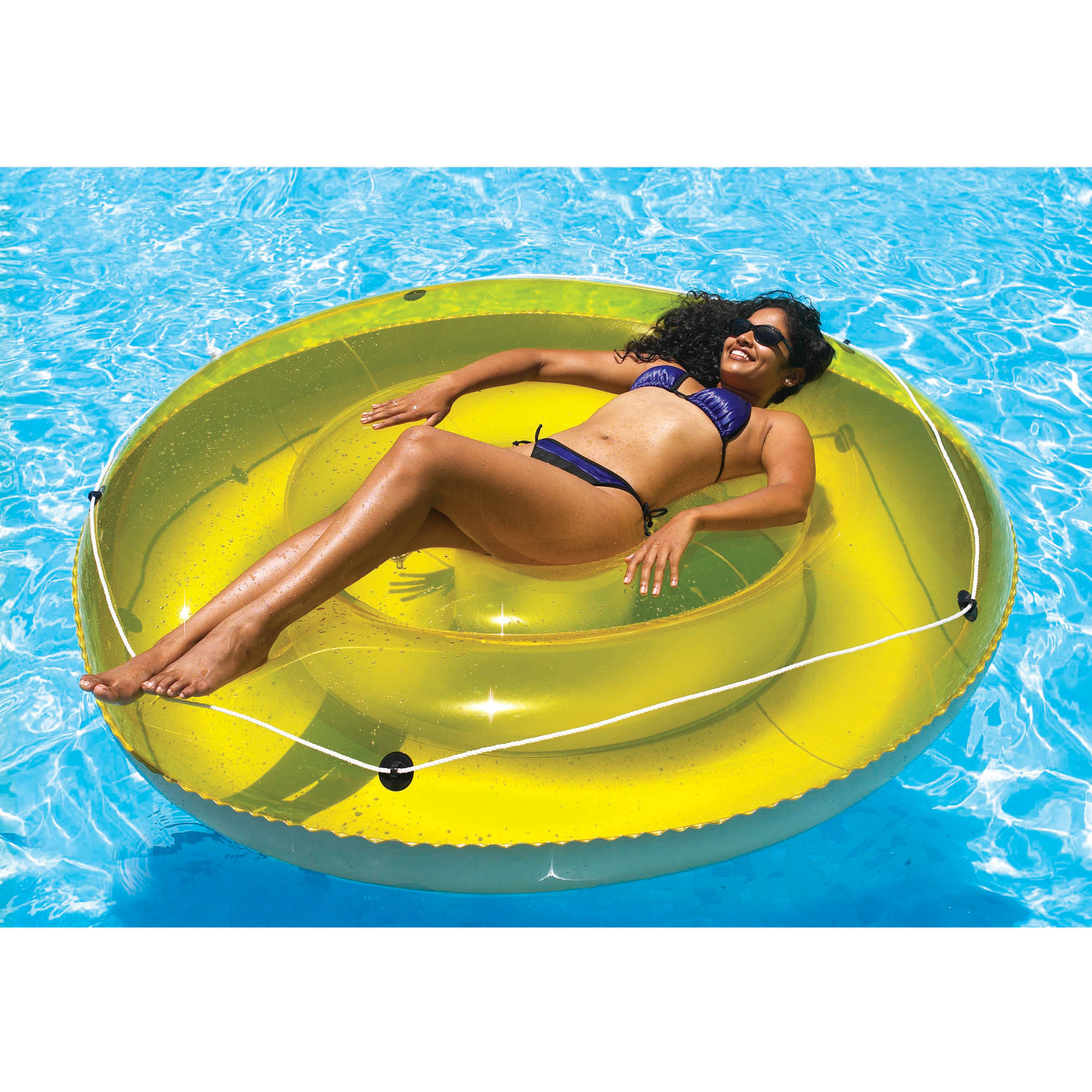 Swimline Multi-Person Island Sun Tan Lounger Pool Float for Swimming Pools