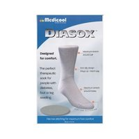 Diasox seam-free diabetes socks x-large, white part no. disw-xlarge (1/ea)