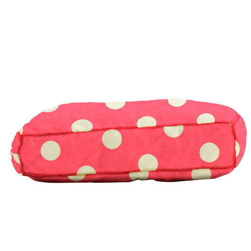 """WufFuf Pet Bed with Liner, 30""""L x 20""""W x 5""""H, Oxygen Candy Pink with White Dots"""