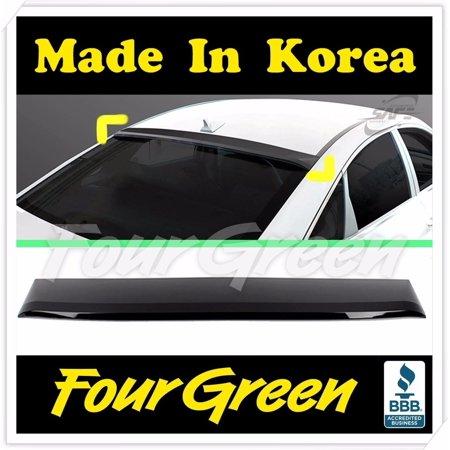 Black Rear Smoked Roof Spoiler Wing Visor Vent for Hyundai SONATA 2010~2017