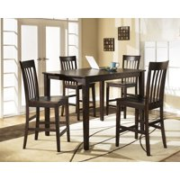 Ashley Hyland D258-223 5 Piece Dining Room Set with 1 Counter Height Table and 4 Bar Stools (Reddish Brown) + $40 Gift Card