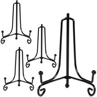 """Juvale 4 Pack 6"""" Metal Easels Stand Holders to Display Photo Collection Artworks for Home Decoration"""