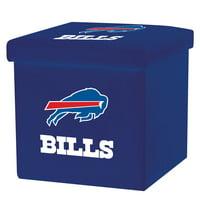 Franklin Sports NFL Buffalo Bills Storage Ottoman with Detachable Lid
