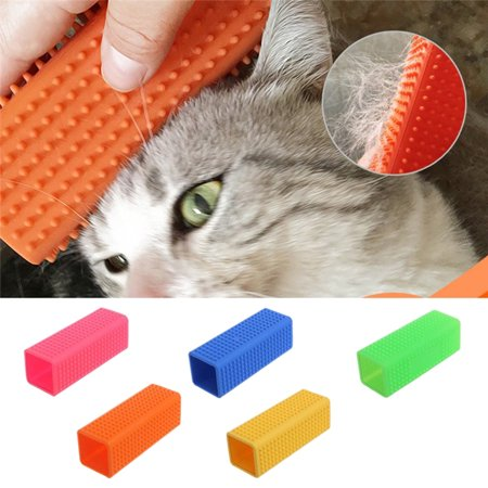 Fysho Dog Cat Pet Soft silicone brush Massage Clean Hair pet Grooming