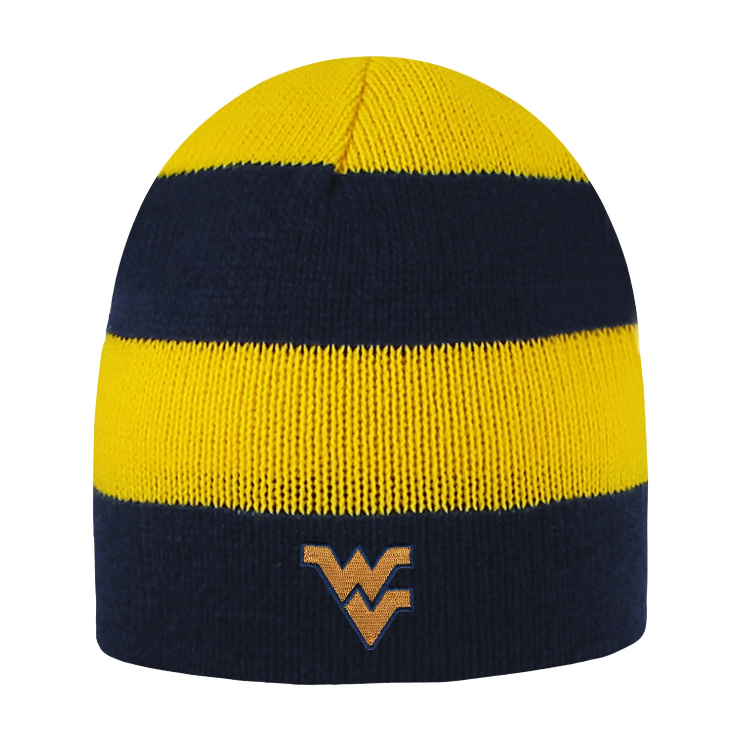 West Virginia University Rugby Striped Knit Beanie by