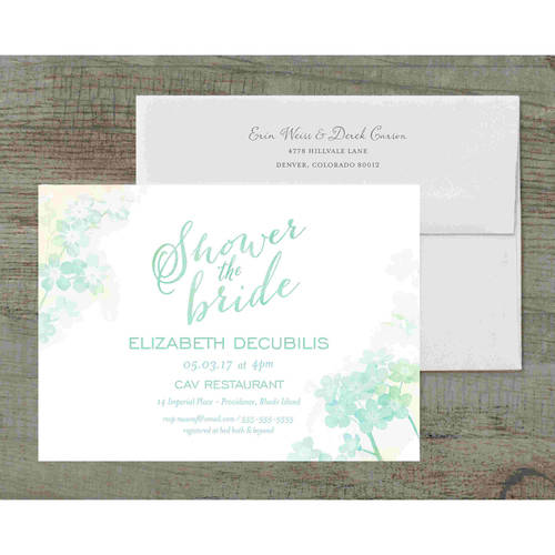 Ombre Deluxe Bridal Shower Invitation