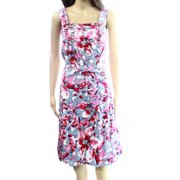 Adrianna Papell NEW Blue Floral Printed Women's 14W Plus Sheath Dress