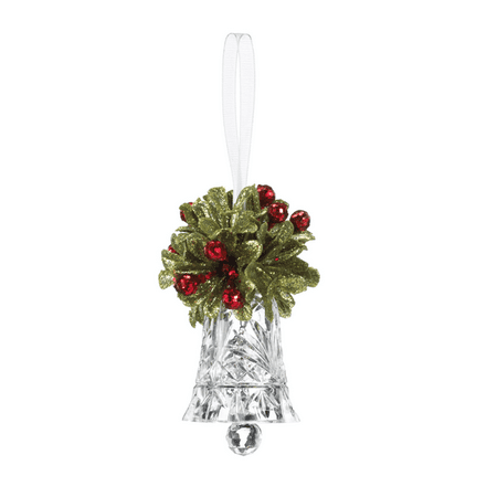 Teeny Mistletoe Krystal Bell Ornament - By Ganz (Bella Ornaments)