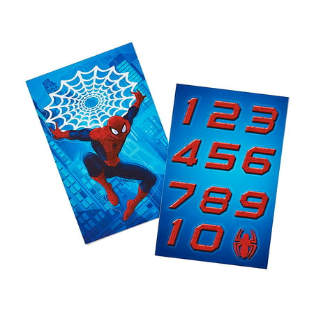 db8ebf300aeb Spider-Man Birthday Party T-Shirt Sticker Pack - Walmart.com