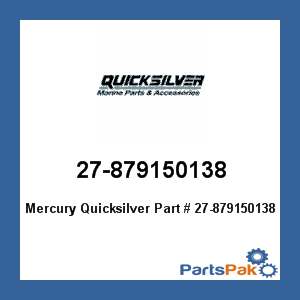 New Mercury Mercruiser Quicksilver OEM Part # 27-879150138 GASKET-WATER PUMP