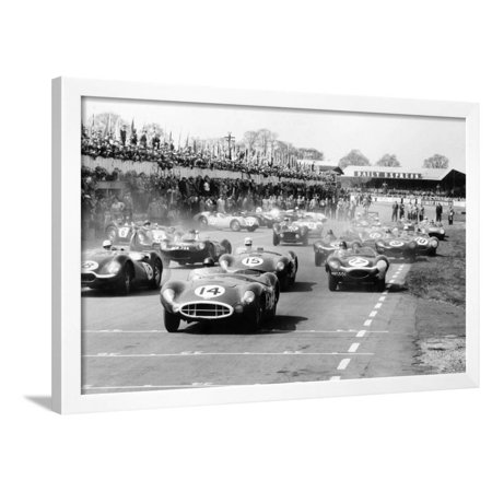 Scene at the Start of a Sports Car Race, Silverstone, Northamptonshire, (Late 1950S) Framed Print Wall Art By Maxwell Boyd Race Car Framed Art