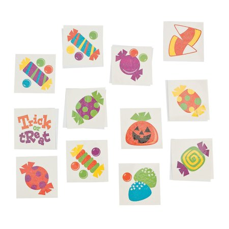 Trick or Treat Paper Tattoos - Glow In Dark Tattoo