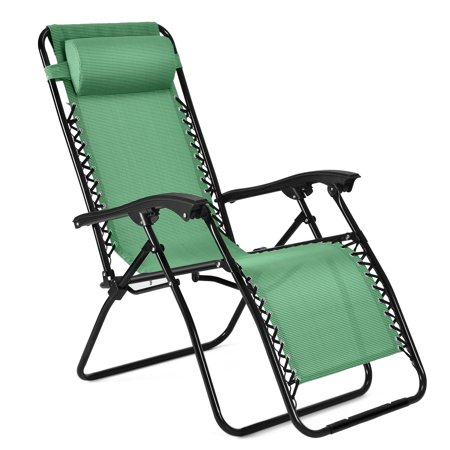 Zero Gravity Chair Anti Outdoor Lounge Patio Folding Reclining And Textilene Seat With
