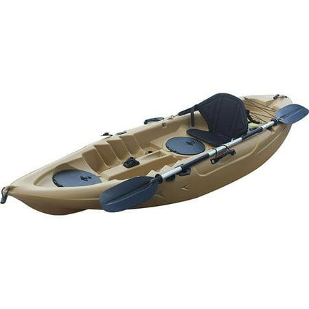 Brooklyn Kayak UH-FK184-DES 9 ft  2 in  Sit on Top Single Fishing Kayak  Seat & Paddle - Dessert Sand