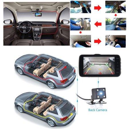 "4"" Dual Lens Car DVR Camera Dash Cam Video Rear Recorder G-Sensor Night Vision HD 1080P  - image 5 of 11"