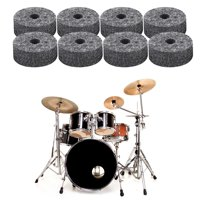 YLSHRF Cymbal Felt Pads, Felt Washer for Drum,8 Pcs Drum Cymbal Felt Pads Set Replacement Parts Black Accessory