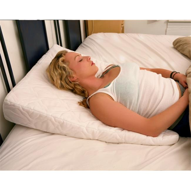 Sleep Wedge Pillow 6-inch - Best Foam Bed Wedge Pillow and Helps with Snoring, Heartburn, Congestion Relief