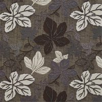 Designer Fabrics A396 54 in. Wide Brown Silver And Ivory Large Leaves Textured Metallic Upholstery Fabric