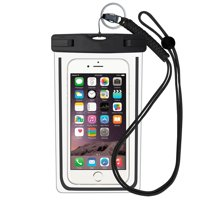 """Universal Waterproof Case, Durable Underwater Dry Bag with Armband & Neck Strap for iPhone X/8 Plus/8/7/6S Plus up to 6.0"""" diagonal - Black(1-Pack)"""